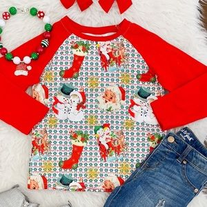 Vintage Look Christmas Shirt 12/18 months & 2T